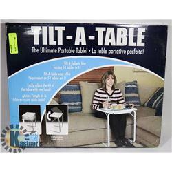 TILT-A-TABLE PORTABLE TABLE.