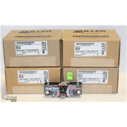 4 BOXES OF MILLER TWIN TURBO D-RING CONNECTOR KIT