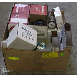 BOX OF ASSORTED ABRASIVES
