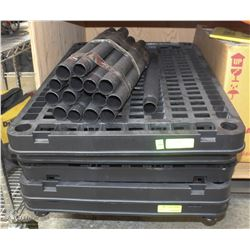 5-TIER BLACK PLASTIC STORAGE RACK