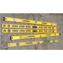LOT OF 5 STANLEY 4FT LEVELS