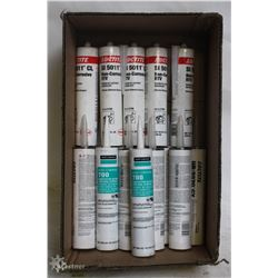 BOX OF ASSORTED INDUSTRIAL GRADE SILICONE SEALERS