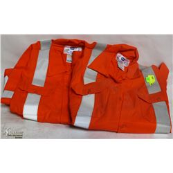 LOT OF 2 MILLIKEN FIRE RESISTANT JACKETS 2XL