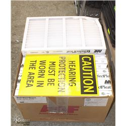 BOX OF PERFECT PLEAT AIR FILTERS SOLD WITH CAUTION