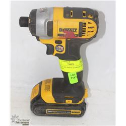 DEWALT 20V IMPACT DRIVER WITH BATTERY