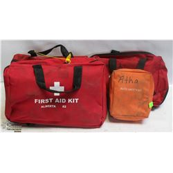 LOT OF 4 FABRIC TRAVEL FIRST AID KITS