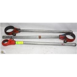 LOT OF 3 ASSORTED RIDGID PIPE WRENCHES
