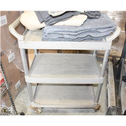 RUBBER 3 TIER BUSSING CART