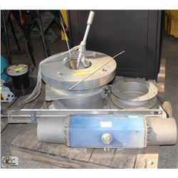 PALLET OF INDUSTRIAL PIPE FLANGES AND PNEUMATIC