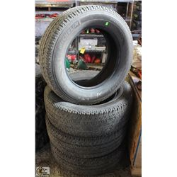 SET OF 4 MICHELIN TRUCK TIRES
