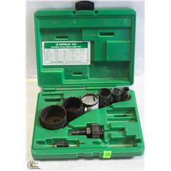 INCOMPLETE GREENLEE HOLE SAW KIT.