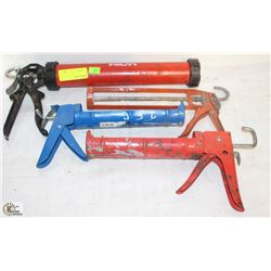 LOT OF 4 ASSORTED GREASE GUNS