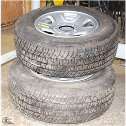 PAIR OF LT265/70R18 TIRES WITH FACTORY DODGE 3500