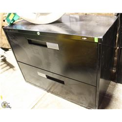 2 DRAWER LATERAL FILING CABINET - NO KEY