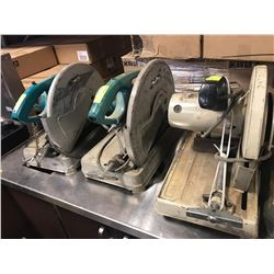 LOT OF 3 AS IS MAKITA CHOP SAWS