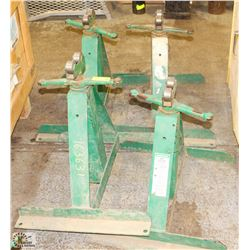 GROUP OF 4 GREENLEE PIPE ROLLERS/STANDS -ON CHOICE