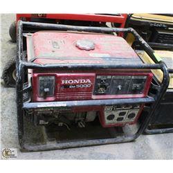 HONDA EM5000 GAS GENERATOR, UNTESTED - AS IS