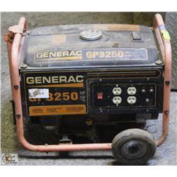 GENERAC GAS GENERATOR , UNTESTED - AS IS