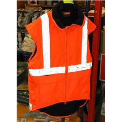 FLEECE LINED SAFETY VEST SIZE XL