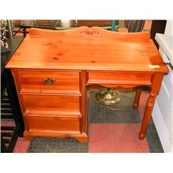 "PINE WRITING DESK, (40.5""X19.5""X32"")."