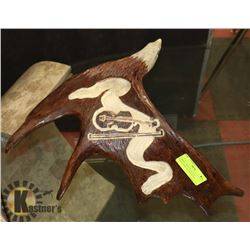 HAND CARVED EAGLE IN TRADITIONAL NATIVE STYLE,
