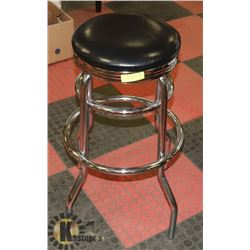 MAN CAVE HEAVY DUTY CHROME BAR STOOL