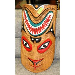NATIVE HAND CARVED AND PAINTED WOOD TREE ART