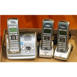 3 UNIDEN LANDLINE WIRELESS PHONES WITH CHARGING