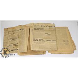 BUNDLE OF 1907 NEWSPAPERS