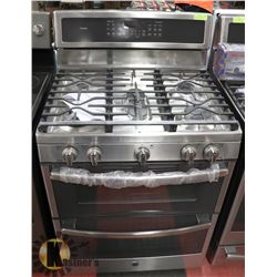 "GE 30"" FREE STANDING DOUBLE OVEN GAS CONVECTION"
