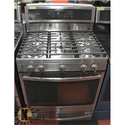 "GE 30"" FREE STANDING GAS CONVECTION RANGE W/ SELF"