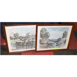 SET OF 2 COLLECTOR RIDEAU CANAL PRINTS BY BEN