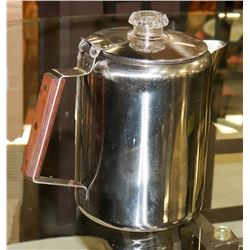 ANTIQUE STAINLESS STEEL COFFEE PERCOLATOR