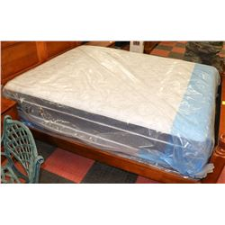 NEW SOVA SILVER QUEEN SIZE EUROTOP MATTRESS WITH
