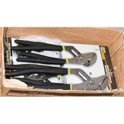 CASE WITH 6 PAIRS OF FIX-IT LUBE JOINT PLIER SETS
