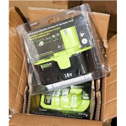 CASE OF 4 NEW POWER IT CORDLESS TOOL BATTERIES