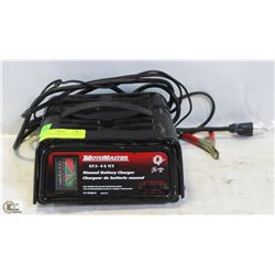 MOTOMASTER BATTERY CHARGER.