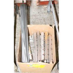 BOX OF ASSORTED KEYSTOCK & CHOCKY BARS