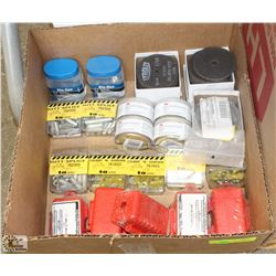 BOX OF LOCK OUTS AND TAG OUTS, CABLE CLEANING KITS