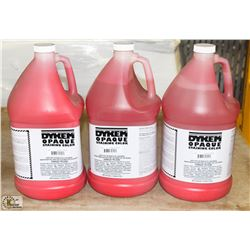 BOX WITH THREE 1 GALLON BOTTLES OF DYKEM OPAQUE