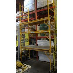 BAKER-STYLE 3 SECTION  ADJUSTABLE SCAFFOLD