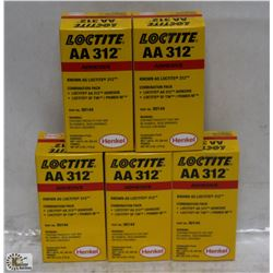 CASE WITH 5 BOXES OF LOCTITE AA312 ADHESIVE