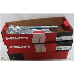 "3 BOXES OF HILTI 3/4"" X 10"" CONCRETE LAG BOLTS"
