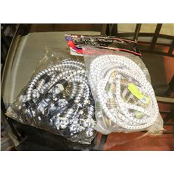 2 PACKS OF ASSORTED HEAVY DUTY BUNGEE CORDS.