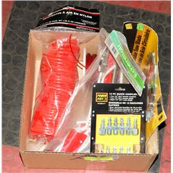 FLAT W/ SAW BLADE, AIR HOSE, TREE PRUNER,