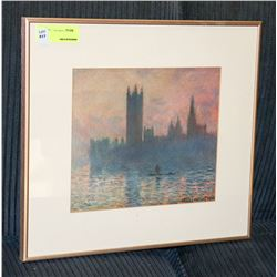 ESTATE FRAMED CITY SCAPE PICTURE