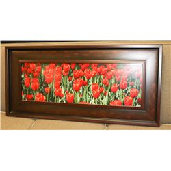 WOOD FRAMED FLORAL PICTURE