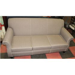 "GREY FABRIC 78"" SOFA. FURNITURE"
