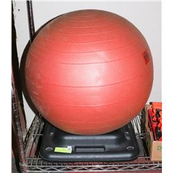 INFLATABLE 22 INCHES FITBALL WITH STAND