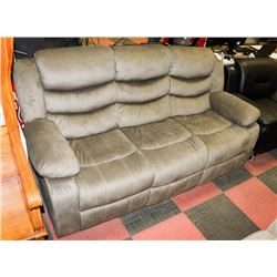 "SAGE FABRIC RECLINING 78"" SOFA. FURNITURE"